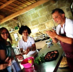 In Italy Tours Tropea Cooking Tours - cooking with peppe